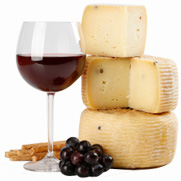 Bernisson France [image of wine, cheese, grapes]